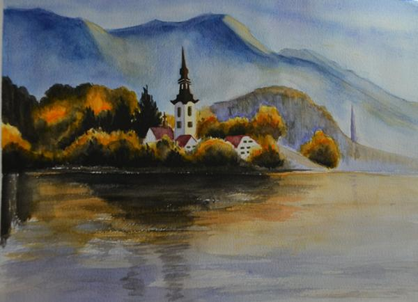 水彩画习作~~欧洲风景