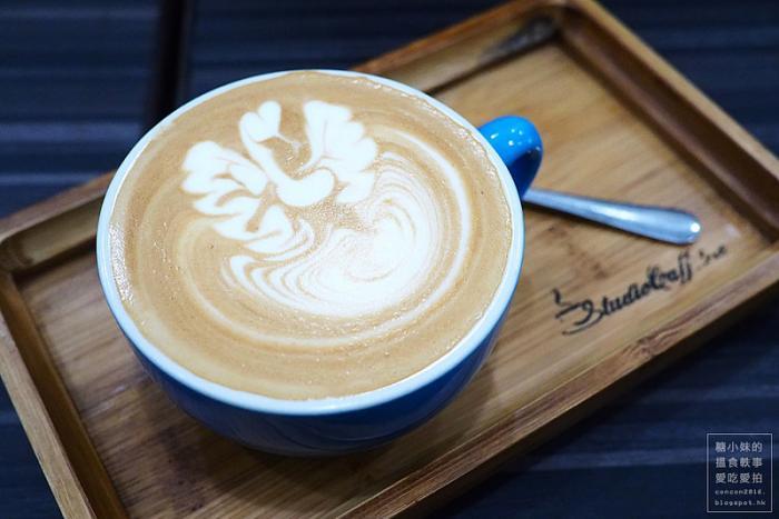 [佐敦] studio caffeine 宁静舒适的精品咖啡店,熊仔拉花很可爱呢!