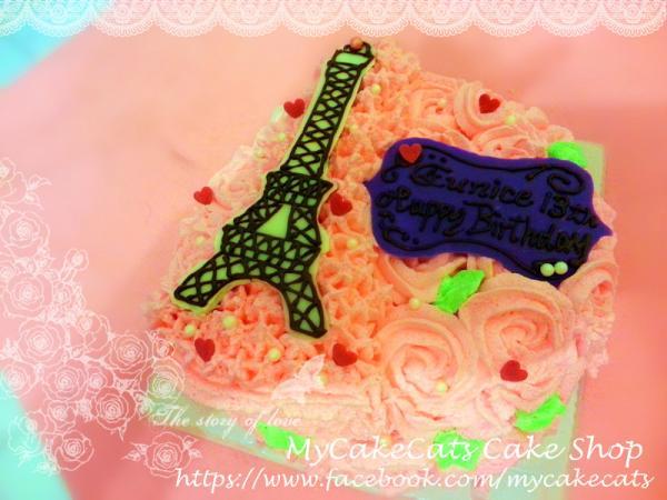 巴黎铁塔蛋糕图片